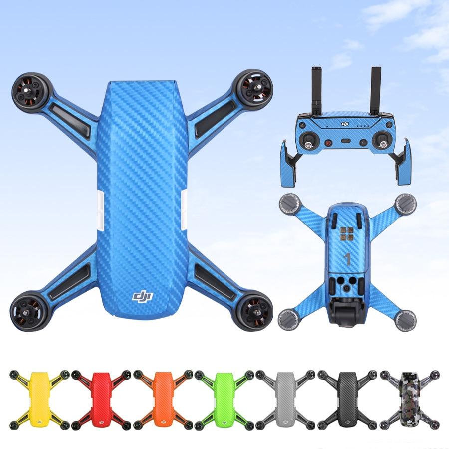 For DJI Mavic Pro Drone Luxury Carbon Fiber Decal Cover Sticker Skin Waterproof