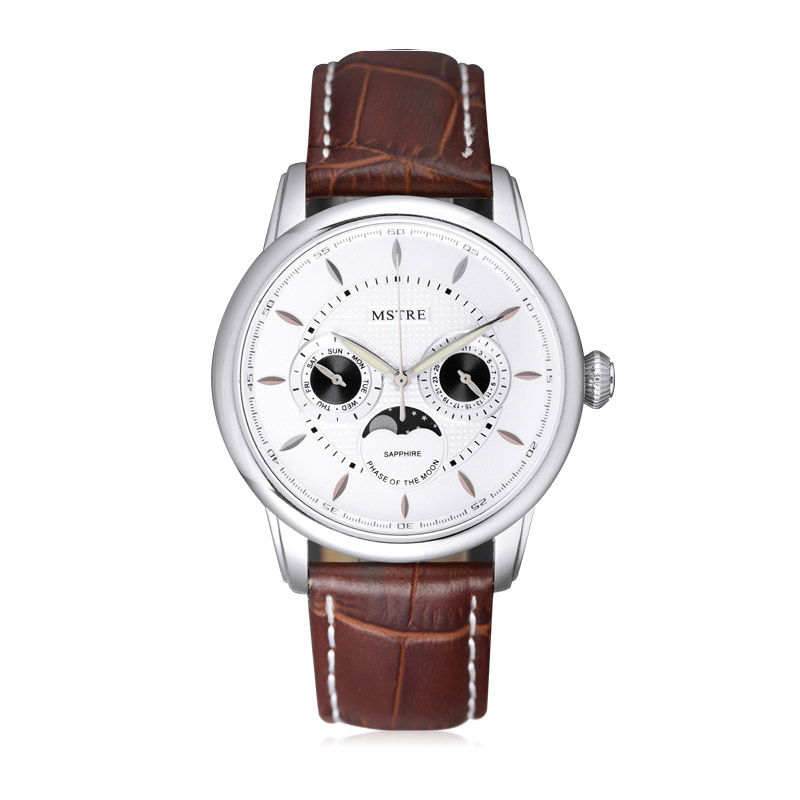 Fashion Classic Ladies Casual Watch Women Quartz Moon Phase Wrist Watches Leather Strap Sapphire Calendar аксессуар ks is usb to rs 232 pl2303 213 ks 213 page 3