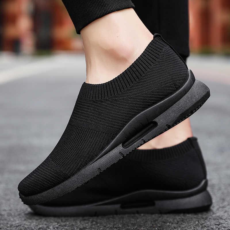 Cheap Men White Sneakers Slip On