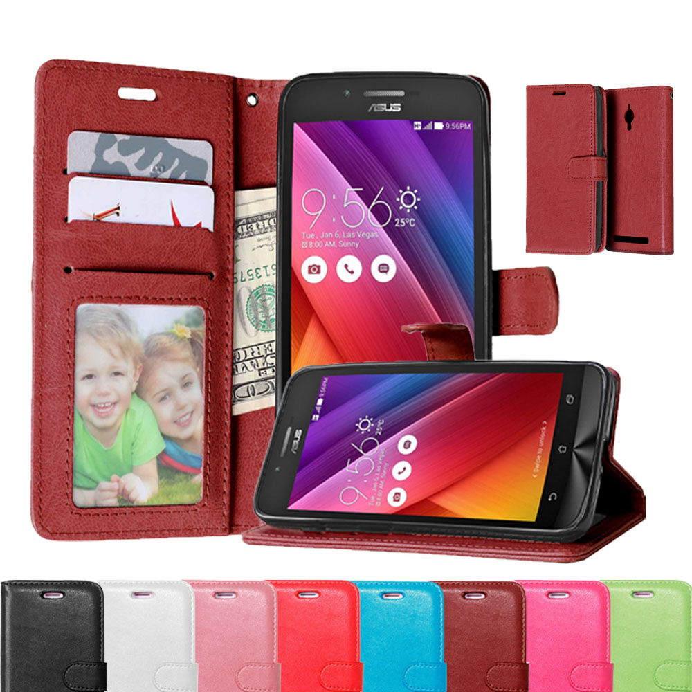 Business Style Book Flip Leather Cover Case For Asus Zenfone Go Zb452kg 8mp Zc500tg 50 Inch Fashion Mobile Phone Card Slot Shell
