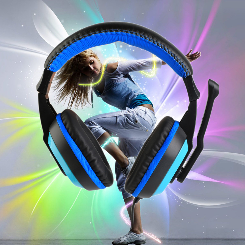 3.5mm Adjustable Game Gaming Headphones Stereo Type Noise-canceling Computer PC Gamers Headset With Microphones Top Quality