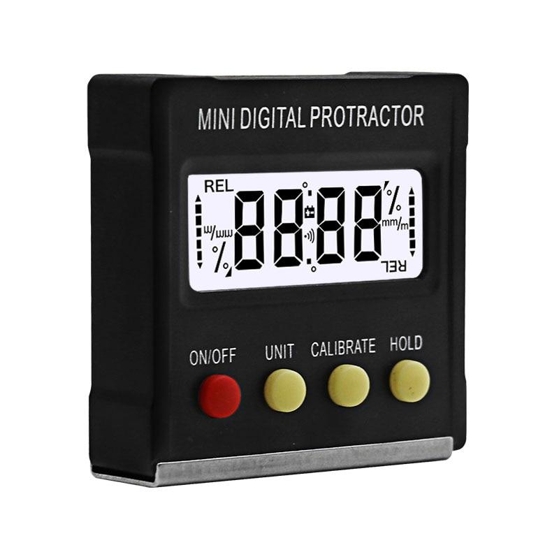 Мини цифровой транспортир 360 градусов, Клинометр, электронный ящик уровня, магнитное основание, измерительные инструменты