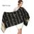 [Ode À Alegria] novas mulheres Cachecol de Seda Longo Grosso Cachecol de Inverno Quente mulher Moda Casual Xadrez Borla Cachecol de Lã Cashmere