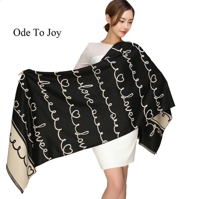 [Ode To Joy] New Scarf women Long Silk Thick Warm Winter Scarf woman Fashion Casual Wool Cashmere Plaid Tassel Scarf