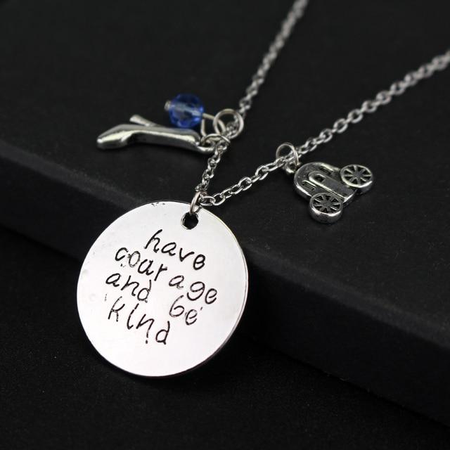 Cinderella movie inspired vintage necklace have courage and be kind cinderella movie inspired vintage necklace have courage and be kind fairy godmother glass slipper aloadofball Gallery