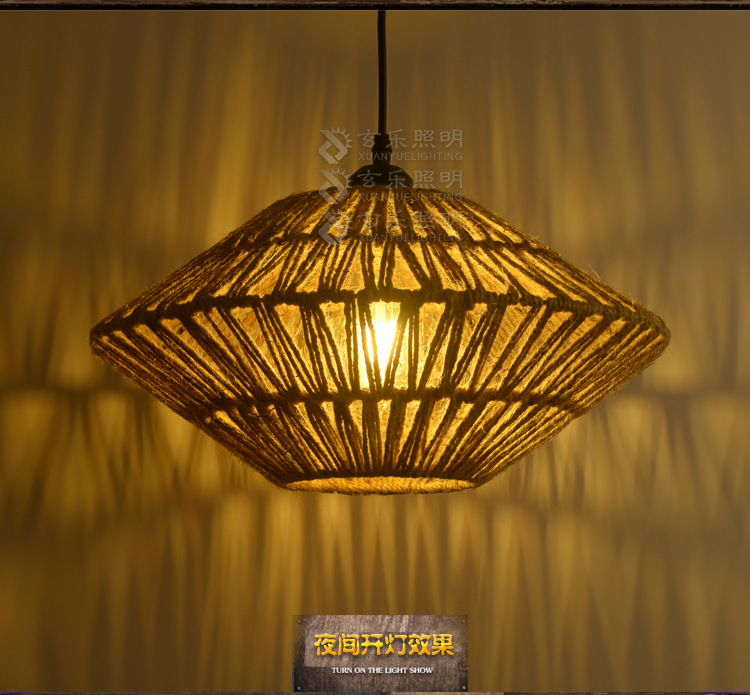 American Industrial Art Hemp Rope Pendant Light Loft Rope Dining Room Light Study Light Free Shipping