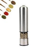 Electric Stainless Steel Spice Salt Pepper Herb Grinder Seasoning Adjustable Mill 2 In 1 Condiment Kitchen
