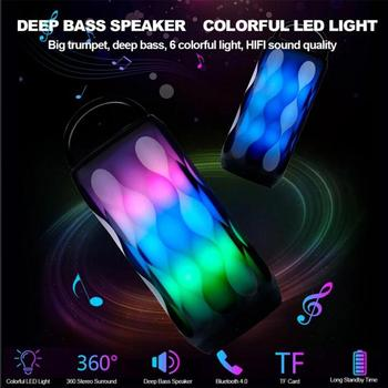 LED Night Lamp Wireless Bluetooth Speaker Stereo Sound 5W Colorful Music Player Lamp With USB TF FM For Home Party R30