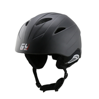2018 bright black PC ski helmet skiing snow sports equipment winter warm hat for outdoor games