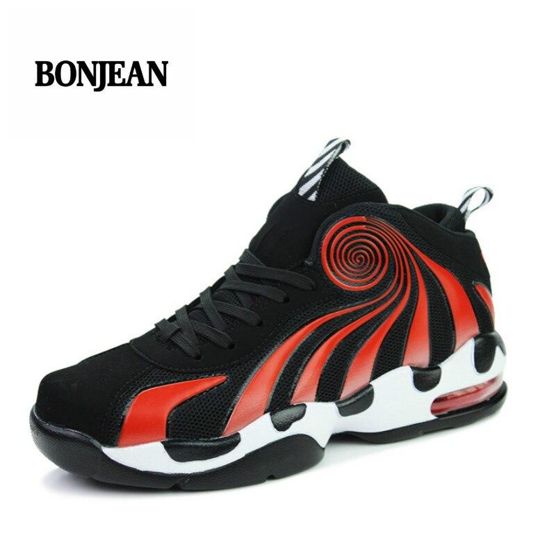 7cbb09b48b76 Basket Homme 2018 New Brand Men Basketball Shoes Retro Lovers Basketball  Sneakers Jordan Sport Shoes Red Trainers Men Size 36 44-in Basketball Shoes  from ...