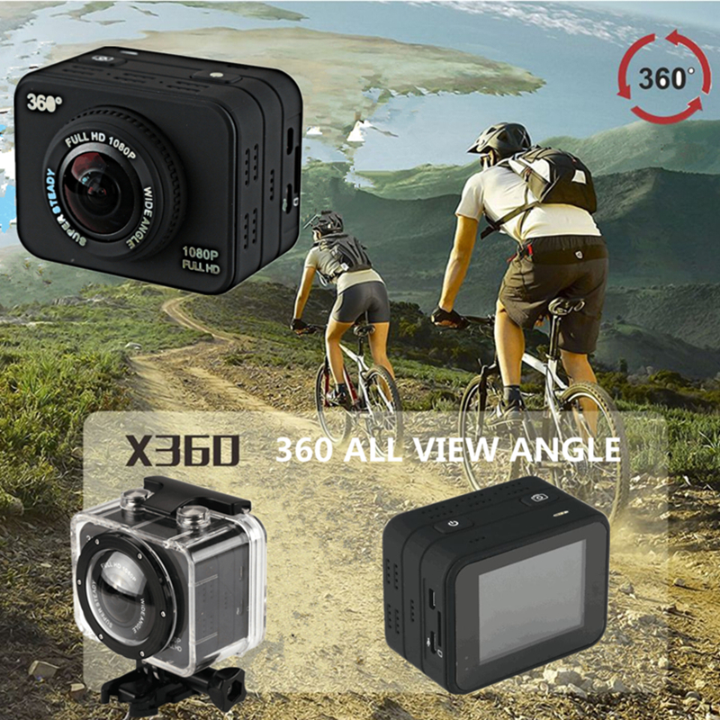 Newest 360 Degree All View sport camera 1080P HD wifi Sport Action Sweep Panoramic Camera Mini Helmet Video Recorder Bike DVR
