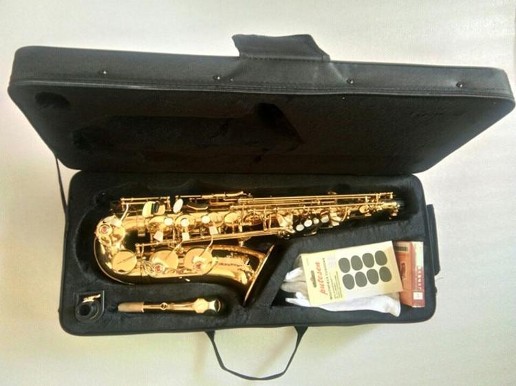 Venda quente Saxofone alto bronze gravados Ação Super 80 Electrophores Ouro instrumentos musicais Sax Sax profissional