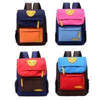 Студенты Мальчики Девочки милый медведь Холст Рюкзак Школьные сумки Повседневное Bookbags Детские рюкзаки Детский сад Школьный животных дети