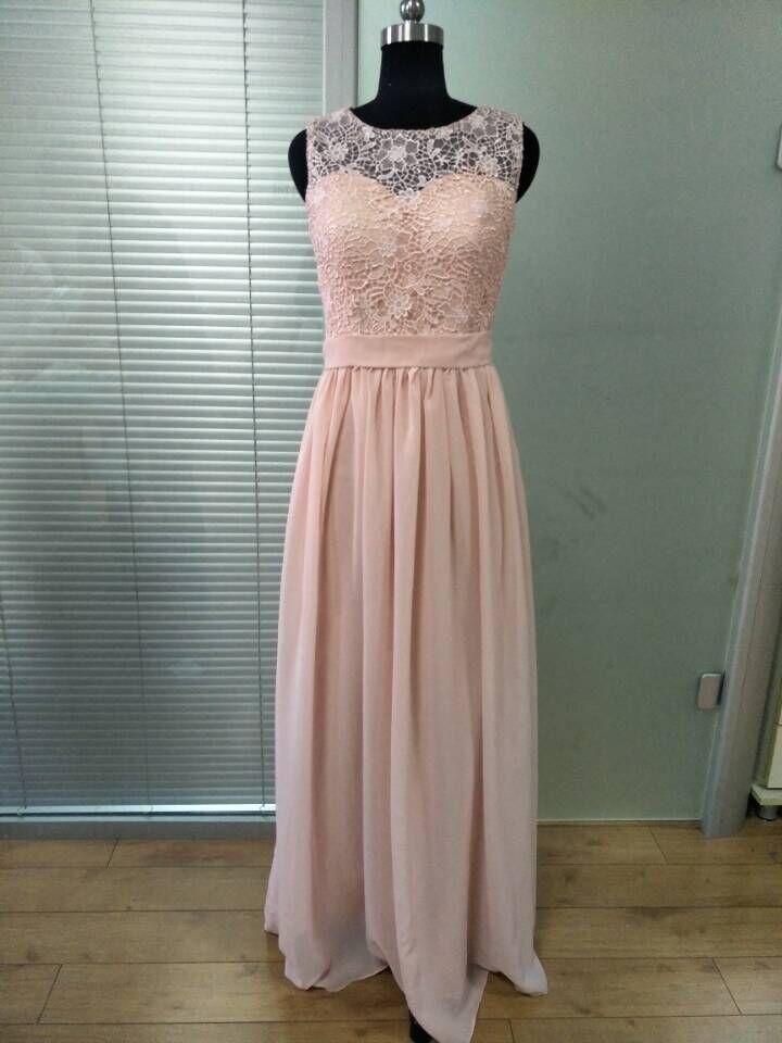 Honey Qiao Bridesmaid Dresses Blush Pink Chiffon Illusion