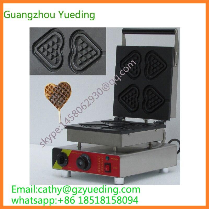 Elettrico 4 pz a forma di cuore waffle maker A Forma di Cuore waffle macchina con certificazioni CEElettrico 4 pz a forma di cuore waffle maker A Forma di Cuore waffle macchina con certificazioni CE