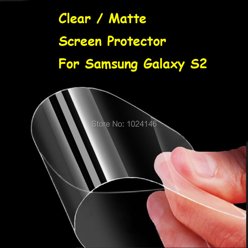 New HD Clear / Anti-Glare Matte Screen Protector For Samsung Galaxy S2 SII S 2 i9100 Protective Film Guard With Cleaning Cloth