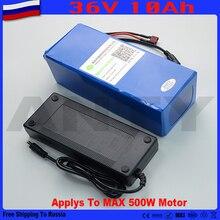 Бесплатная Доставка в Россию 36 В 10ah Аккумулятор встроенный 15A BMS eBike Батареи 36 В с 42 В 2A Зарядное Устройство Скутер Литиевая Батарея 36 В