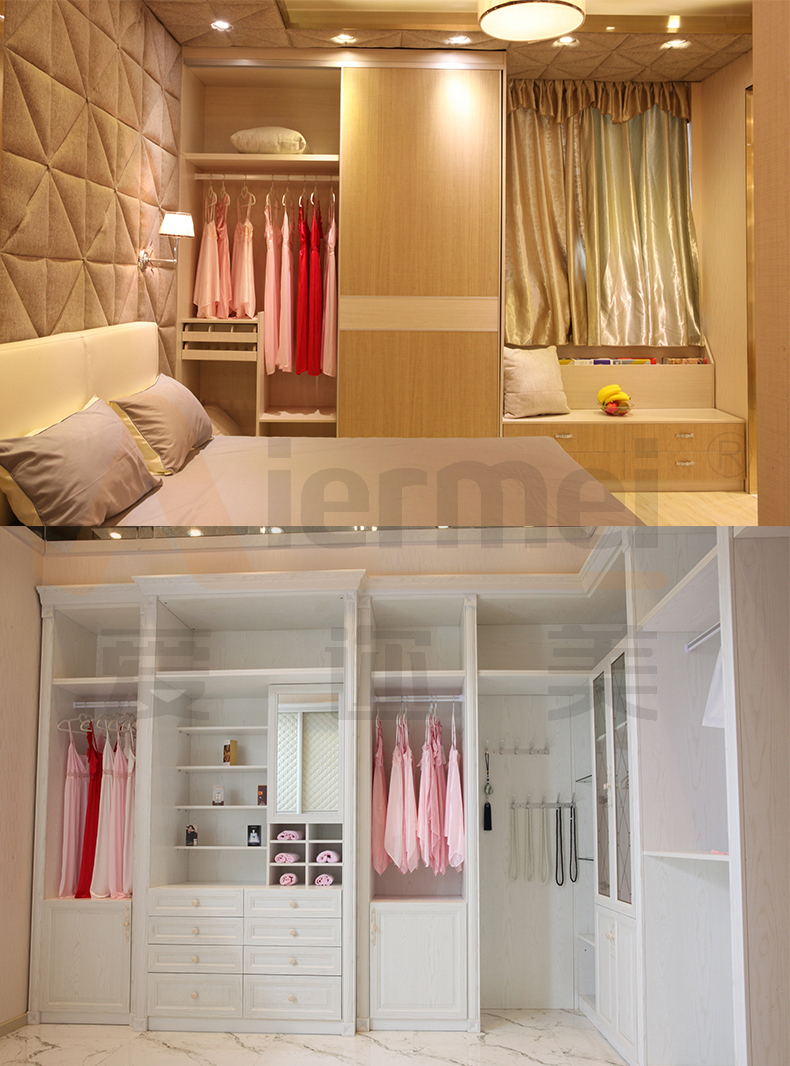 Wardrobe Furniture Us 2135 Custom Made Solid Wood Sliding Door Closet Hotel Furniture High Gloss Lacquer Glass Bedroom Wardrobe Designs In Wardrobes From Furniture
