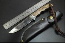 Browning Shadow Wood Fied Hunting Knife Camping Tactical Knife Small Straight Knife Rescue Tools