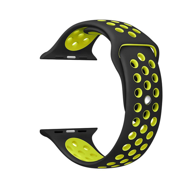 Silicone strap band for Nike apple watch series 4/3/2/1 42mm 38mm rubber wrist bracelet adapter iwatch 40/44mm Apple watch band 5