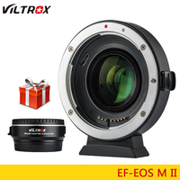 Viltrox EF M2 II Focal Reducer Booster Adapter Auto focus 0.71x for Canon EF mount lens to EOS M camera M6 M3 M5 M10 M100 M50