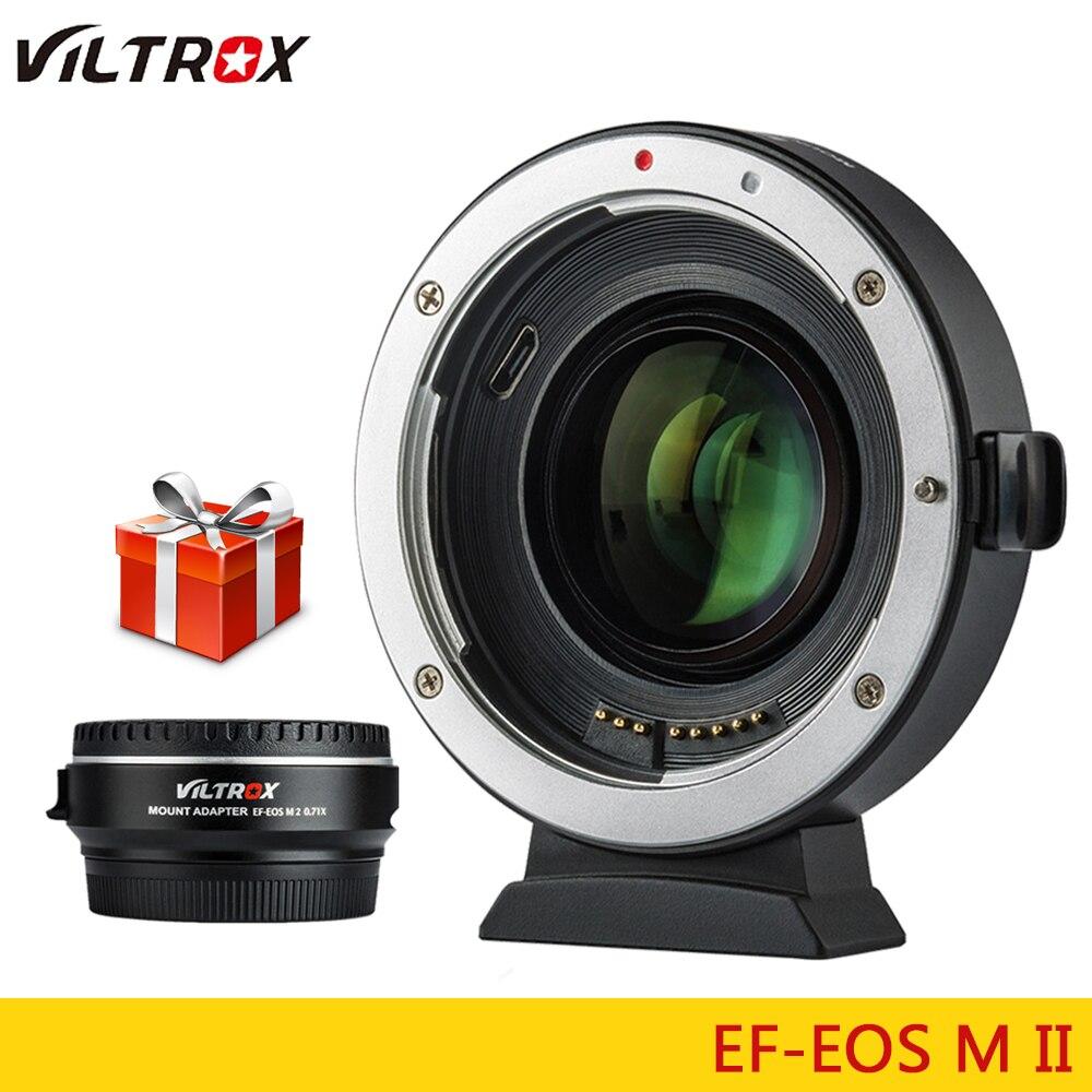 Viltrox EF-M2 II réducteur Focal Booster adaptateur Auto-focus 0.71x pour Canon EF monture objectif à EOS M caméra M6 M3 M5 M10 M100 M50