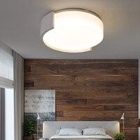 Черный и белый современный светодиодный потолочные круглые Простой декоративный световой прибор исследование столовая спальня гостиная п