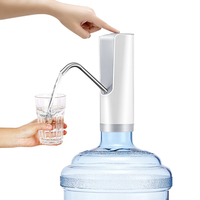 2018 Hot Selling Electric Pump for Water Usb Rechargeable Bottle Dispenser White Hand Water Pump Drinking Bottled Kitchen Tools