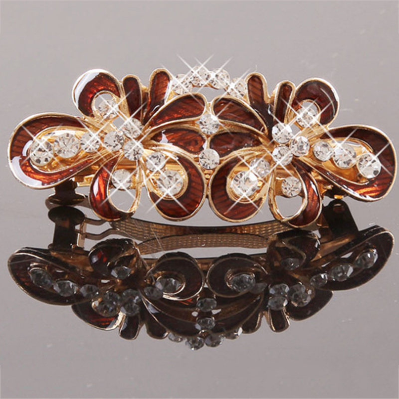 New Creative Korean imitation crystal bow hairpin Women High Quality Headwear Hair Accessory Free Shipping от Aliexpress INT