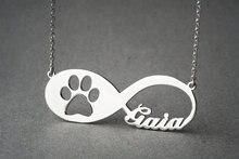 Лидер продаж Мода пользовательское имя лапу ожерелье популярный дизайн Paw щенка с надписью кулон ожерелье, лучший друг GIT/Дружба
