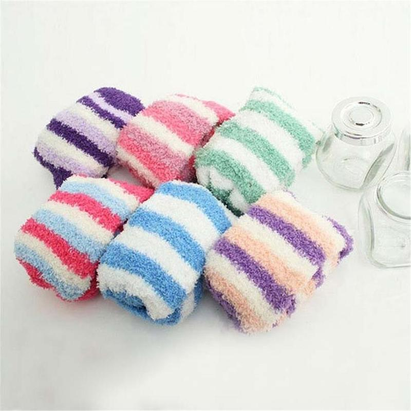 2019 Extremely Cozy Cashmere   Socks   Women Winter Warm Soft Sleep   Socks   Bed Floor Home Fluffy   Socks   Random Color