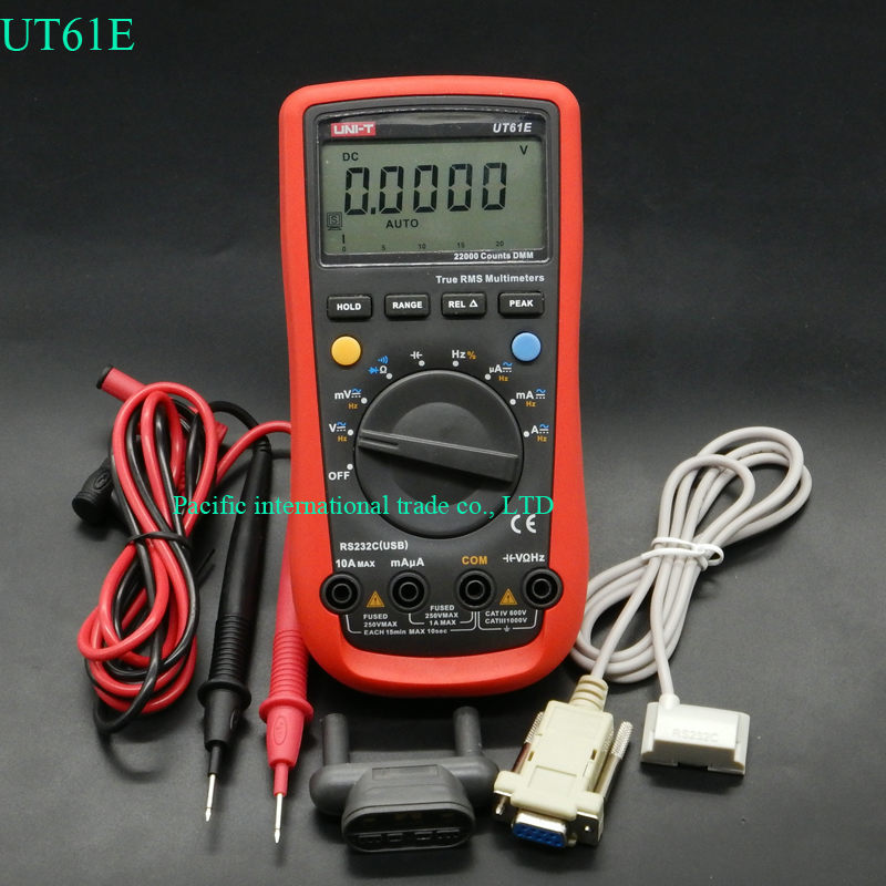 UNI-T UT61E High Reliability  Digital Multimeter Modern Digital Multimeters  AC DC Meter CD Backlight & Data Hold Multitester uni t ut30c original authentic data handed hold digital multimeters temperature test