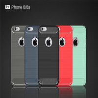Case for iPhone 6 6s Cover Case Carbon Fibre Brushed TPU Shell phone cover for iphone 6 6 Plus Mobile Phone Bag - Hot Sell
