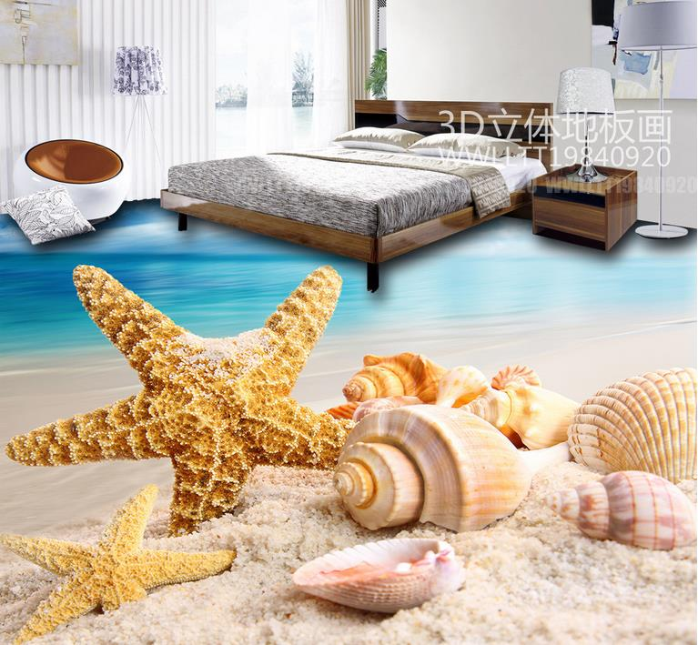 3d floor mural photo wallpaper customize wallpapers for living room floor 3d self adhesive wallpaper Shellfish starfish floor book knowledge power channel creative 3d large mural wallpaper 3d bedroom living room tv backdrop painting wallpaper