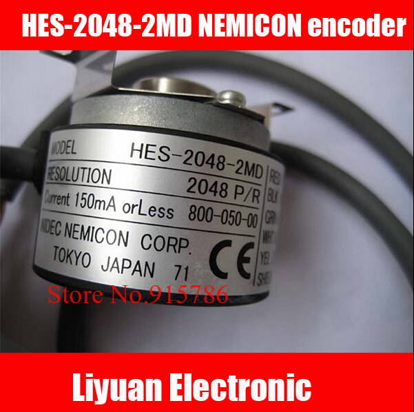 1pcs New HES 2048 2MD NEMICON encoder 2048P R elevator encoder encoder Hollow