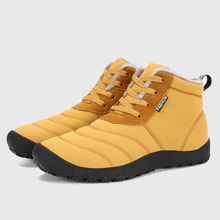2017 Новинка зимы Для мужчин; теплые меховые зимние ботинки Водонепроницаемый Подпушка Ткань Ботильоны для Для мужчин дешевая зимняя обувь Для мужчин