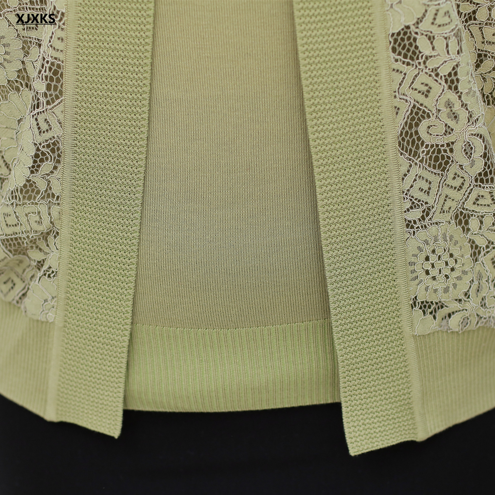 Moda Tricot Jumper Suéter Suéteres Mujeres Elegante Xjxks verde Mujer Otoño Punto Cardigans Colour Caramel Cordón Crocheted Del De rosado 2017 Set q707nS8wE