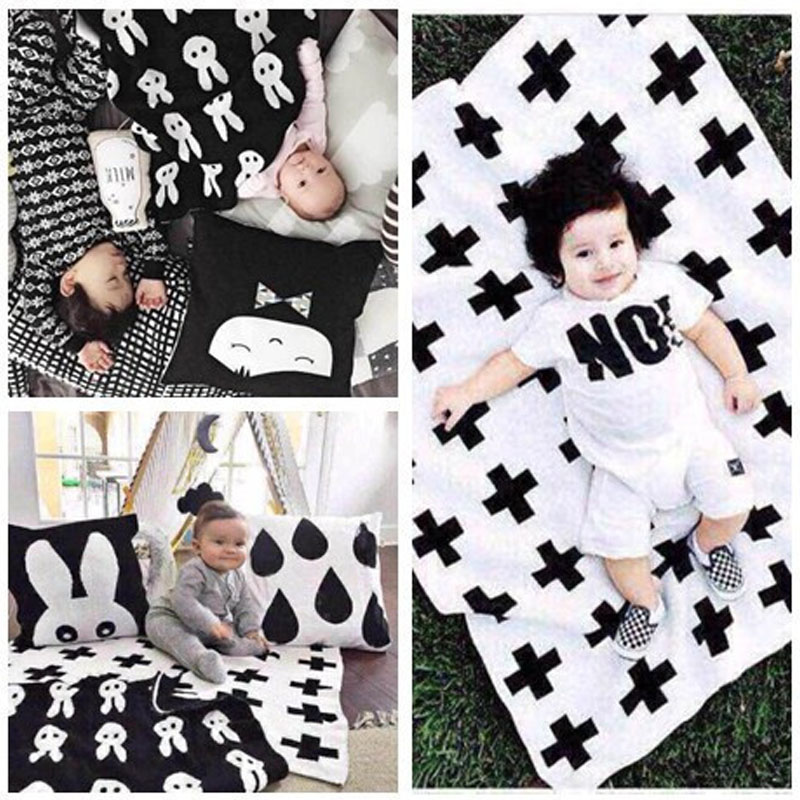 Wrap Super Soft Flannel Newborn Baby Blanket Autumn Winter Fashion Swaddling Cross Rabbit Tree Style Bedding