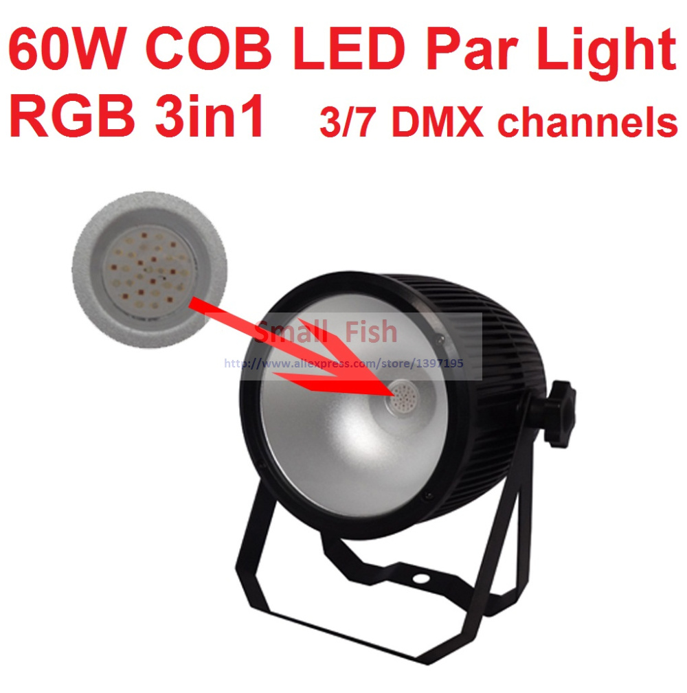 2018 Cheaper 60W COB Led Par Light Fresnel Studio Light PAR64 Full Color High Power Beam Wash DJ Disco DMX Stage Surface Lights
