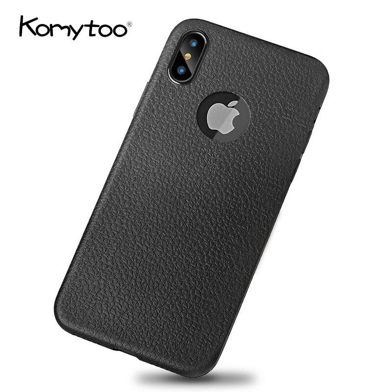 Komytoo телефона чехол для iPhone X Чехол Мода ультра тонкий кожу мягкой ТПУ силиконовый чехол для iPhone X 7 8 6 6 S плюс В виде ракушки крышка Сумки