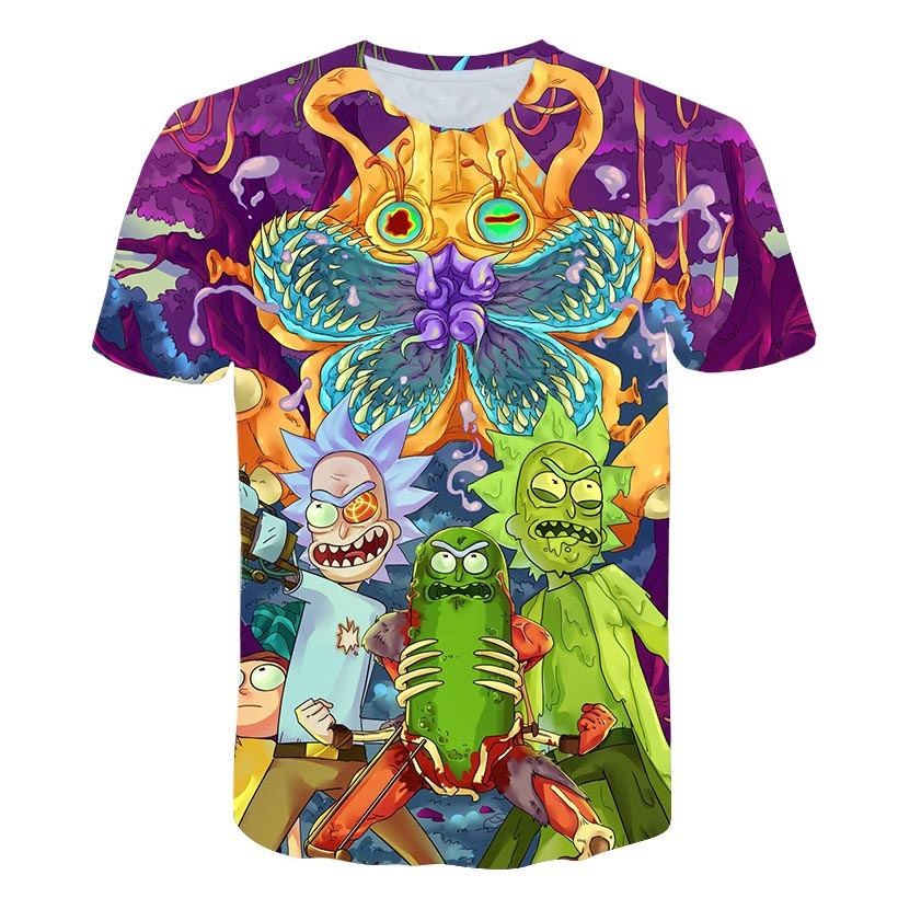 Brand Rick And Morty T Shirt Men Anime Tshirt Chinese 3d Printed T shirt Hip Hop Tee Cool Mens Clothing 2018 New Summer Top in T Shirts from Men 39 s Clothing