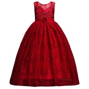 Image 4 - เจ้าหญิงลูกไม้ชุดเดรสดอกไม้ Applique สาวชุด First Communion ชุดเด็กงานแต่งงานชุด