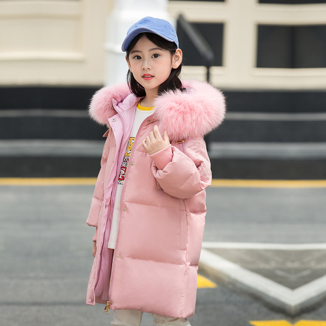 -30 degrees 2018 new Children duck down jacket for Girl clothes Outerwear long hooded warm Cold Winter coat parka kids clothing 2015 new hot winter thicken warm woman down jacket coat parkas outerwear hooded splice mid long plus size 3xxxl luxury cold
