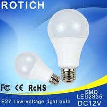 E27 LED Bulb Lights DC 12V smd 2835chip lampada luz E27 lamp 3W 6W 9W 12W 15W 18W spot lamp Led Light Bulbs for Outdoor Освещение