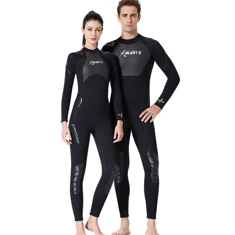 High Quality New 3mm Cool Black Diving Triathlon Neoprene Wetsuit for Swimming Surf Men Scuba Equipment Split Suits