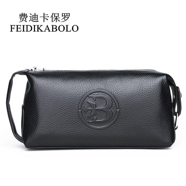Feidikabolo 100% натуральная кожа Для мужчин кошелек клатч Для мужчин удобно сумка Портативный Длинные мужские кошельки Carteira masculina человек кошелек