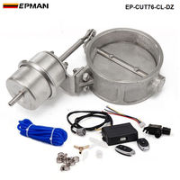 Exhaust Control Valve Set Cutout 3 76mm Pipe Close Style With Vacuum Actuator With Wireless Remote