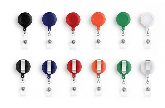 Retractable Badge ID Name Tag Card Badge Holder Reels Office Supplies