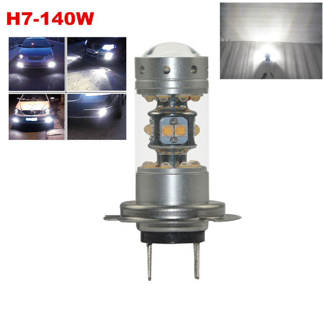 2Pcs White H7 28W(140W) High Power Sharp 28-SMD Chips LEDs For Car DRL/Fog lights/Driving Bulbs/High or Low Beam Running Lights