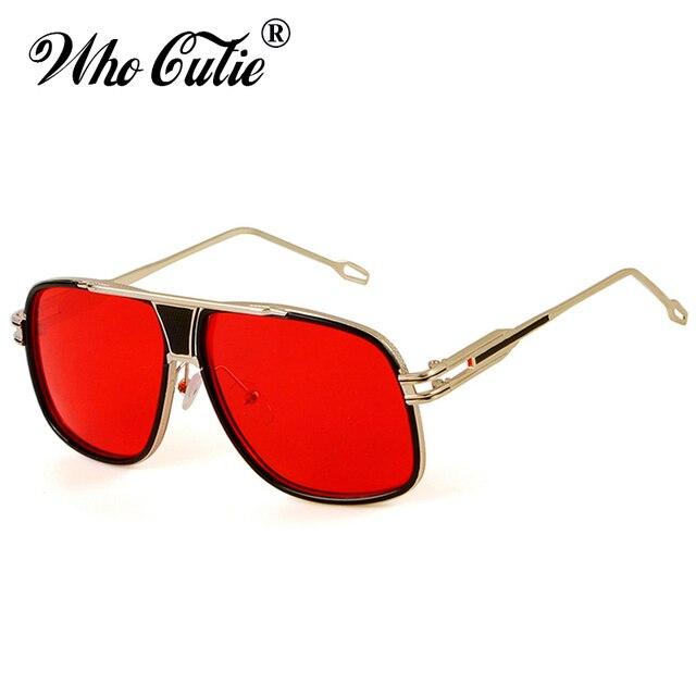 QUI CUTIE Classique Rouge Carré lunettes de Soleil Hommes 2018 À La Mode De  Luxe Marque 05e805f5b557